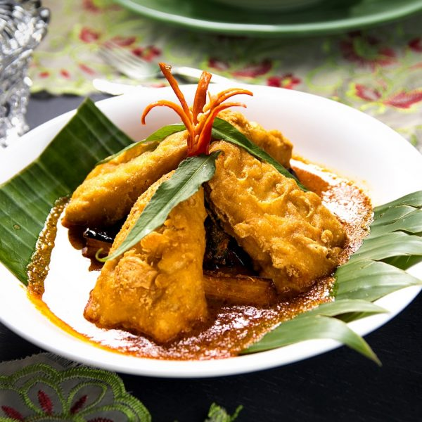 Veg Assam Pedas Fishless Fish